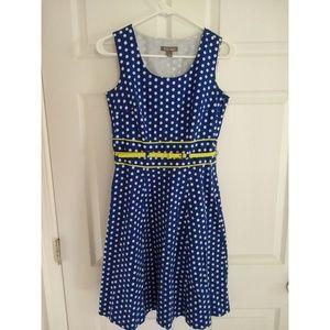 Roz&Ali Royal Blue heptagon Dress size 4